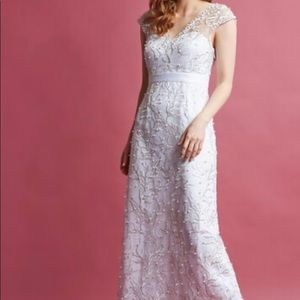 ModCloth NEW without tags beaded white gown
